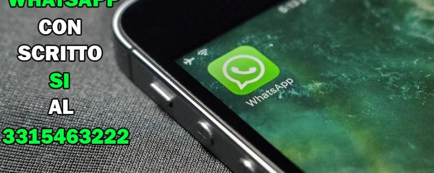 Aderisci al Servizio Whatsapp e ricevi sconti dedicati